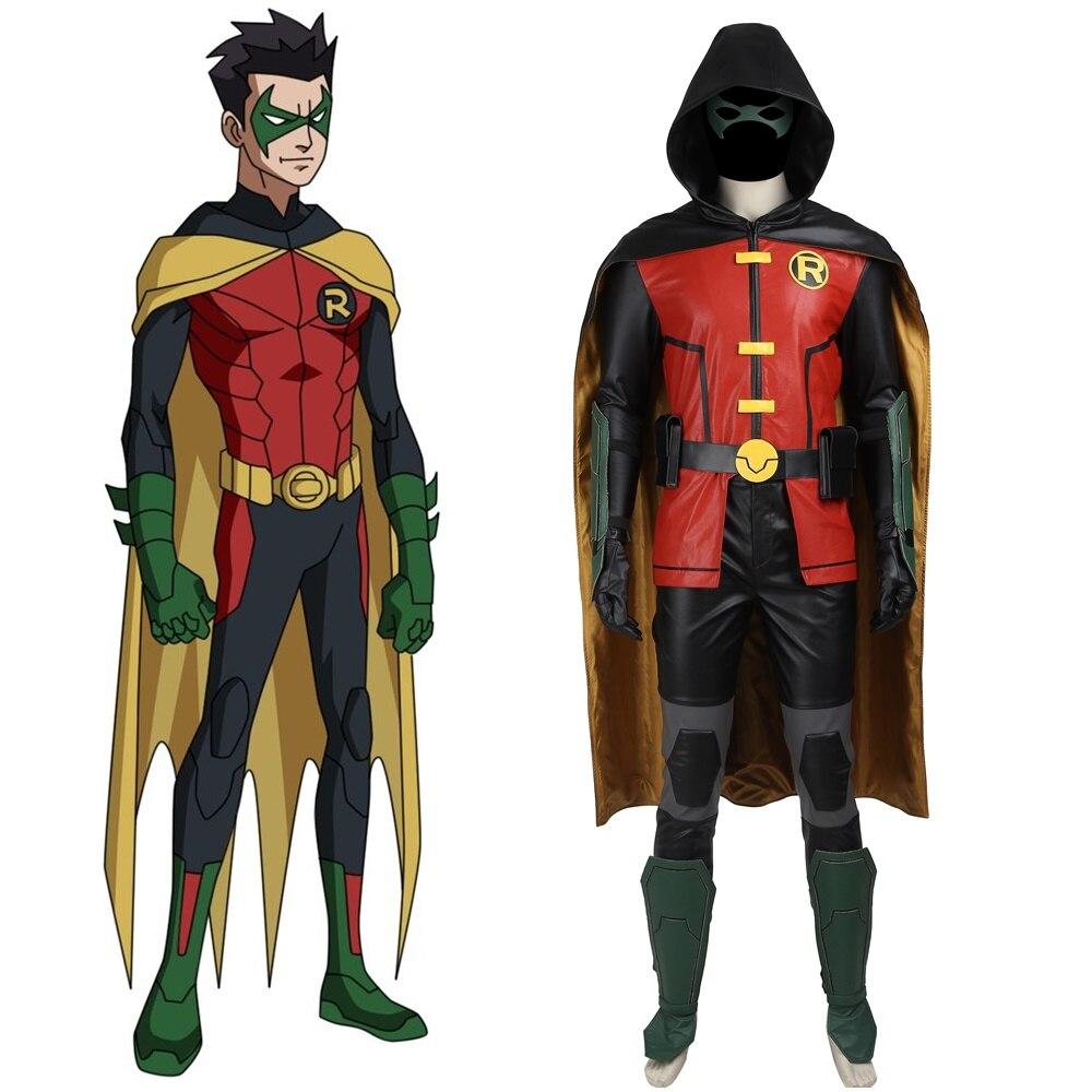 Batman Justice League Vs Teen Titans Robin Cosplay Costume -3273