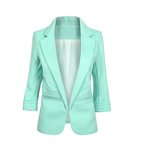 11 Colors Spring Women Blazers Jackets Notched Candy Color Long Sleeve Slim Suit Blazer Female Small Suit