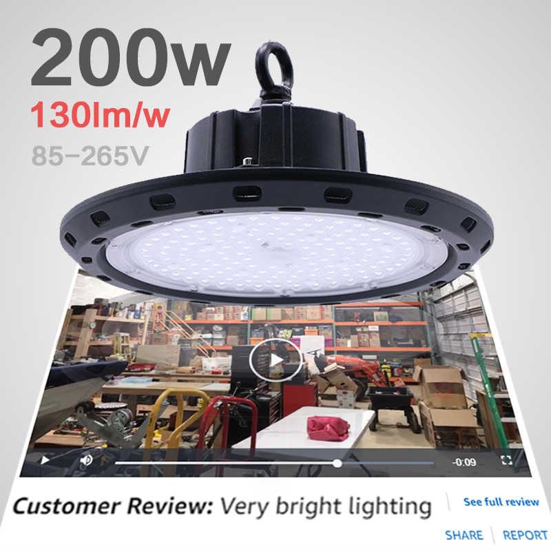 Гаражный свет светильник для цеха круглые огни на поле 200 Вт high bay luminaria промышленная Строительная лампа НЛО светодиодный рабочий свет