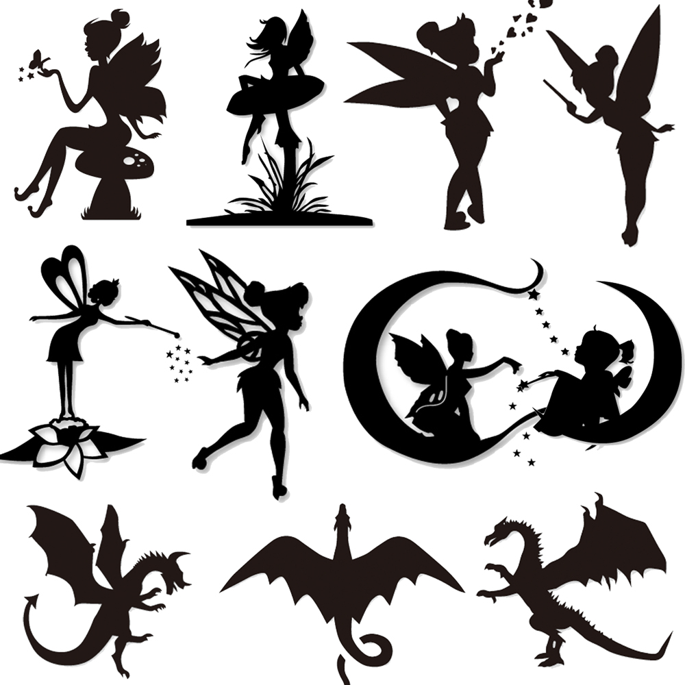 Fairy and Dragon Metal Steel Cutting Dies Stencils For DIY Scrapbooking Album