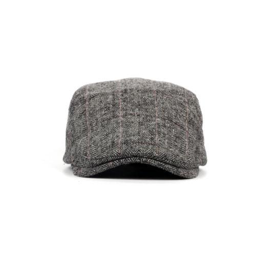 UK Mens Flat Cap Beret Herringbone Newsboy Bakerboy Hat Gatsby Peaky Blinders