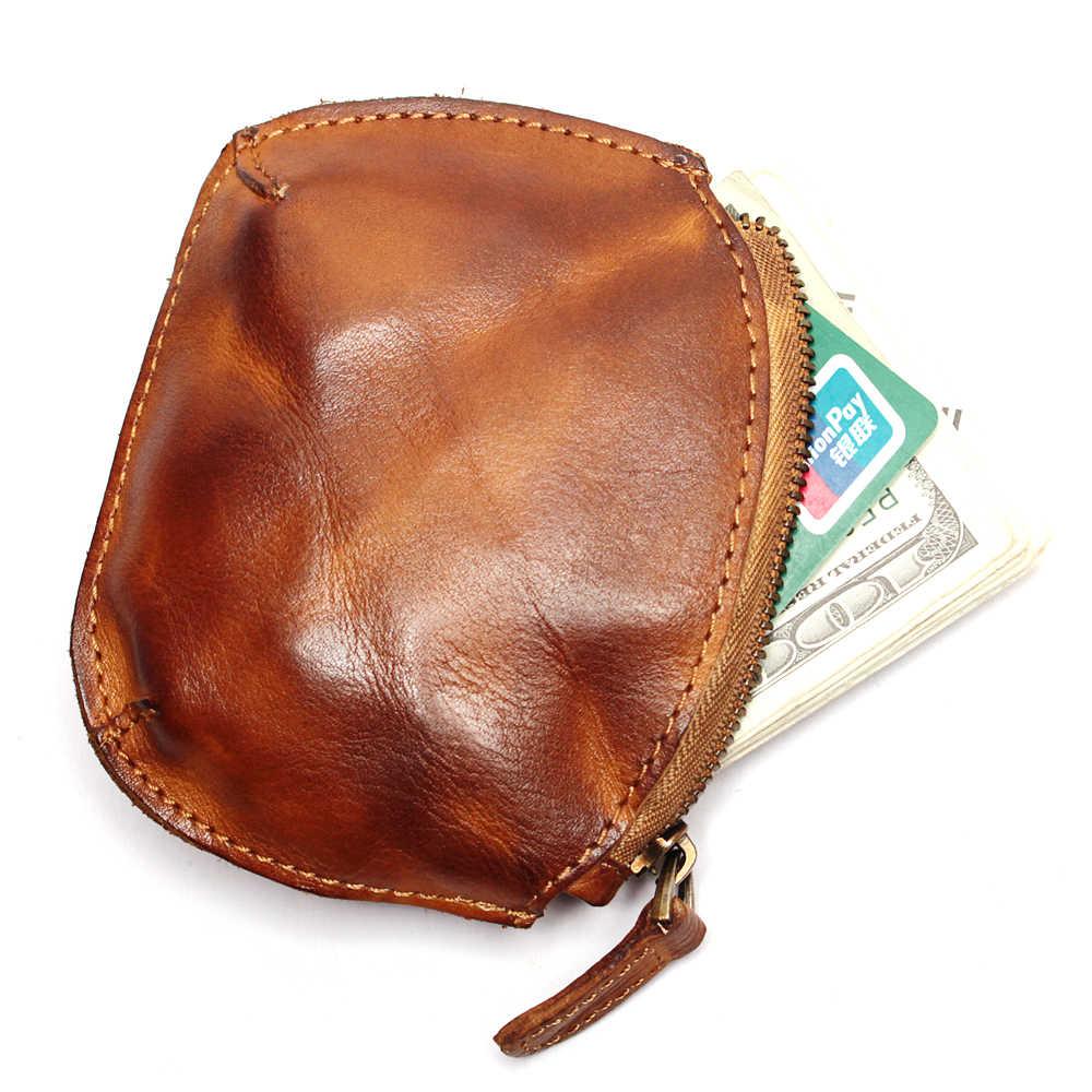 Kulit Asli Mini Dompet Fashion Dompet Kecil Shell Perak Koin Tas Kecil Perjalanan Cahaya Dompet Kulit