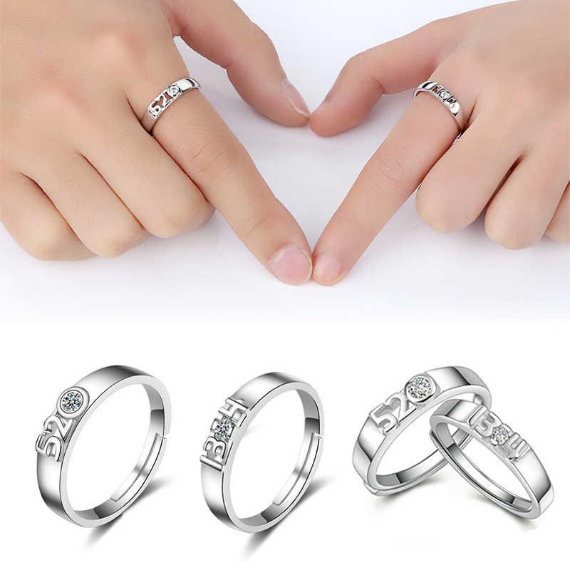 LNRRABC 1 шт. новые серебристые кольца для пар из кристаллического сплава подарки