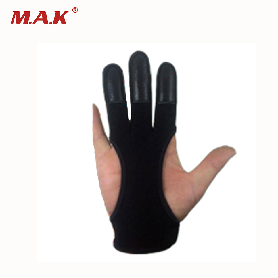 2 Color 3 Finger Gloves Polyester And Elastic Fiber Hand Protection Protective Gloves With 3 Size For Archery Hunting Shooting