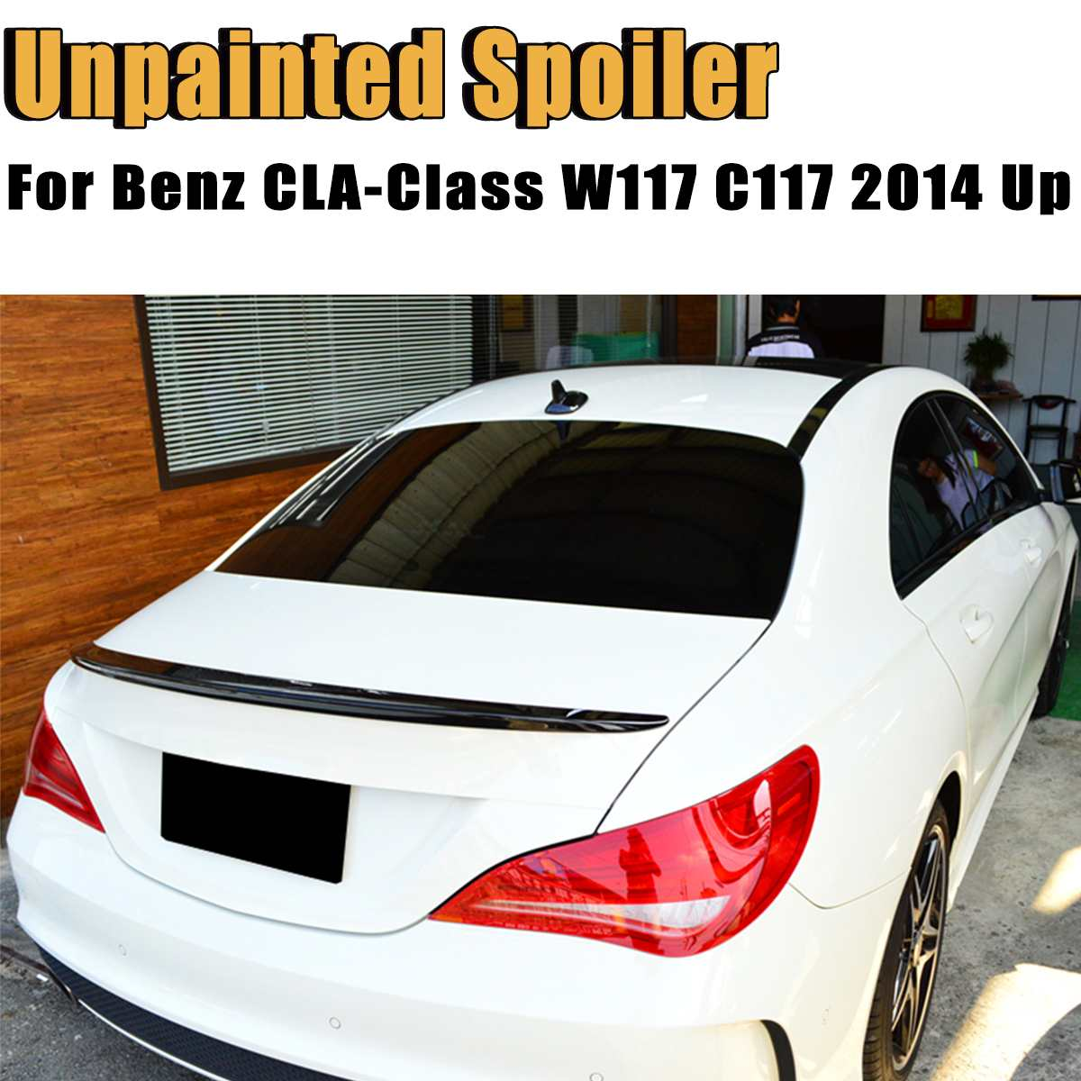 Rear Trunk Boot Lip ABS Spoiler Wing for Mercedes-Benz CLA Class W117 C117 2014 Up Trim Sticker Spoiler Car StylingRear Trunk Boot Lip ABS Spoiler Wing for Mercedes-Benz CLA Class W117 C117 2014 Up Trim Sticker Spoiler Car Styling