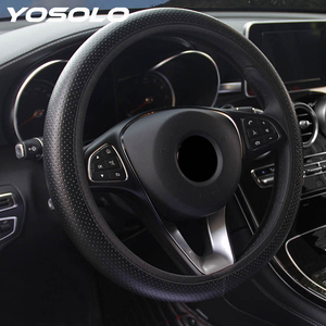 YOSOLO Universal for Ford Focus 2 DIY Car Steering-wheel Cover Soft Faux Leather Car Accessories Car Steering Wheel Cover(China)