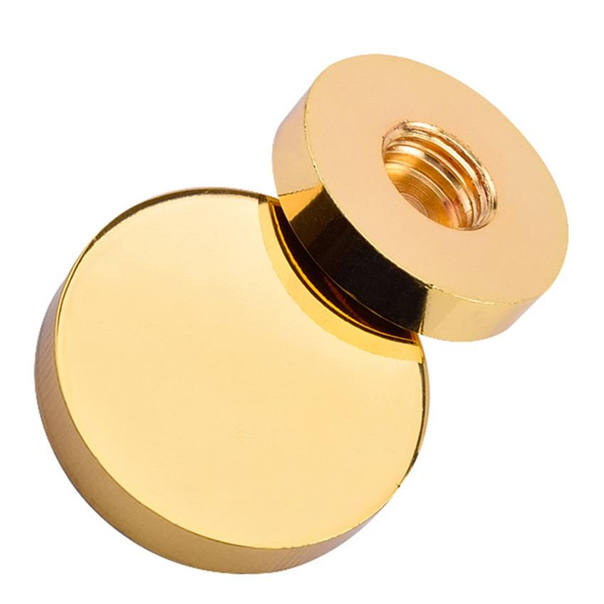 1000PCS Copper decorative standoff cover caps 12mm diameter advertise screws caps satin brushed