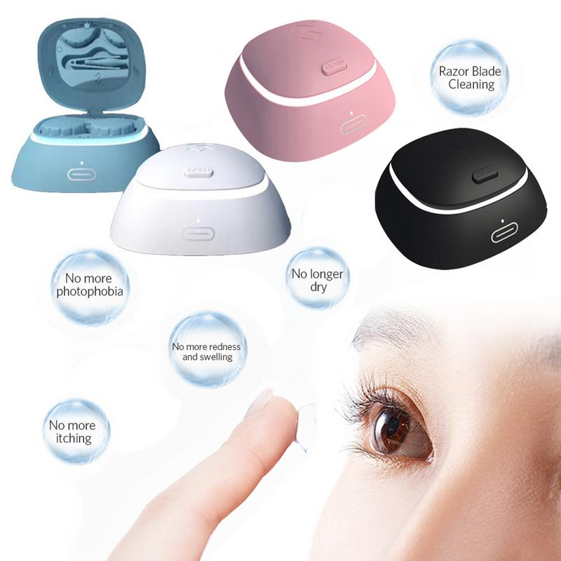 4.0 Lens Auto Cleaner Daily Care Portable Accessories Eye Contacts Cleaning Case USB Charging Dropshipping4.0 Lens Auto Cleaner Daily Care Portable Accessories Eye Contacts Cleaning Case USB Charging Dropshipping