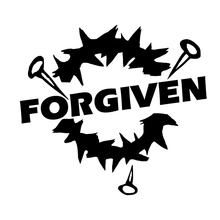 Forgiven Jesus God Christian Car Truck Window Wall Laptop Vinyl Decal Sticker Car Accessories Motorcycle Helmet Car Styling 7 7cm 12 2cm 3 crosses with john 3 16 christian jesus car stickers car styling and accessories black sliver c8 1277