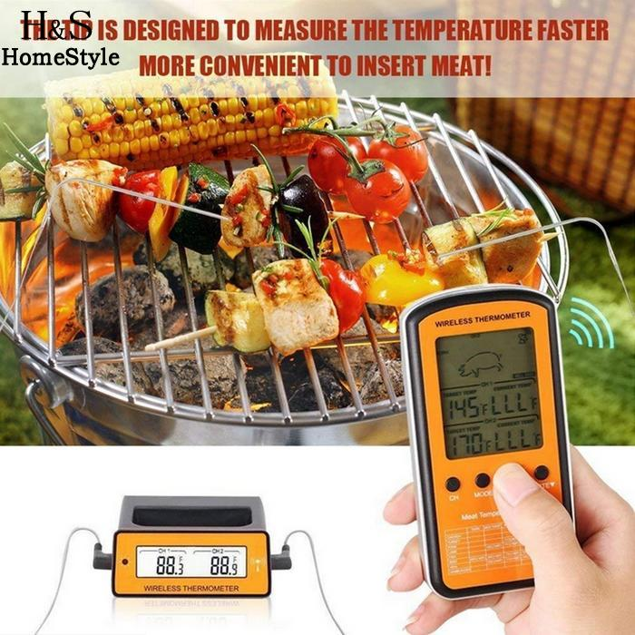 Outdoor Food 69inch Remote Thermometer Meat 17cm 0 BBQ Barbecue 6 Home Meat etc Digital DTH 1 Grill Wireless Cooking 106