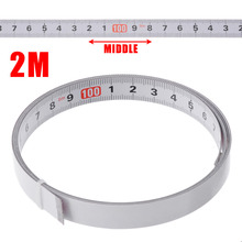 Mayitr Self Adhesive Miter Saw Track Tape Measure Backing Metric Steel Ruler Measuring Tape Gauging Tools 1/2/3/5M steel tape 5 m self locking steel tape 3 m small ruler carpentry foot small mini tape measure