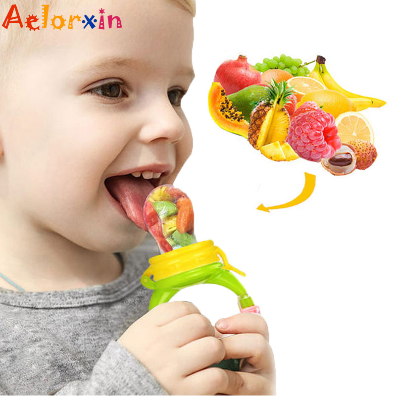 1Pcs Fresh Food Nibbler Baby Pacifiers Baby Pacifier Fruit Infant Food  Nipples Silicone Soother Nipple Feeding Teat Pacifier