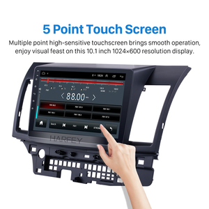 Image 3 - Harfey Android 8.1 10.1 inch 2din HD Touchscreen GPS audio Stereo for Mitsubishi Lancer ex car multimedia player with Bluetooth