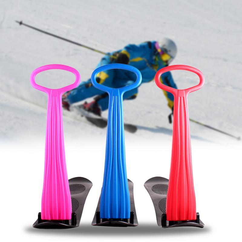 Pliable adulte enfant Ski Snowboard Ski trottinette neige luge avec poignée poignée plastique extérieur enfant neige boogie 92 cm