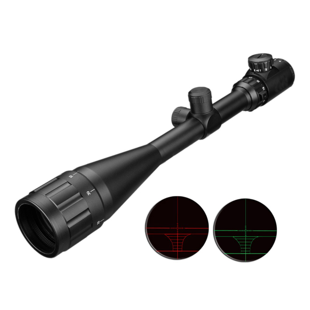 Light Rifle Scope Hunting Adjustable Riflescope Tactical Reticle 6-24x50 Aoe Red Green Dot Optical
