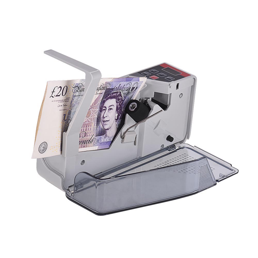 Portable Mini Handy Money Counter Worldwide Bill Cash Banknote Note Currency Counting Machine with LED Display