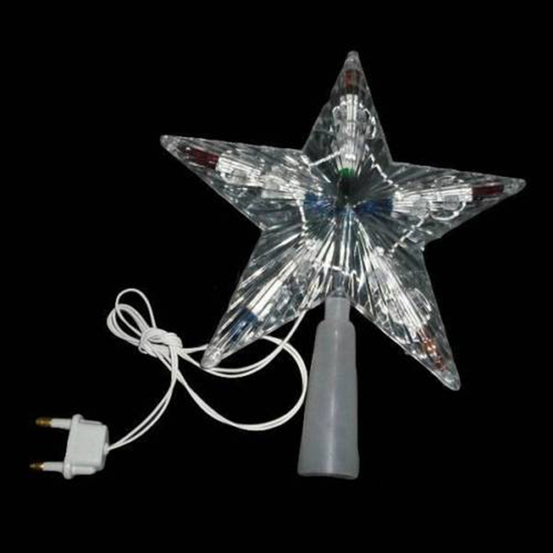 IKVVT 1 Pcs Hogar Paradise Color Changing Xmas Christmas Tree Topper Star Shiny Rotating Light Party LED Lamp Decoration