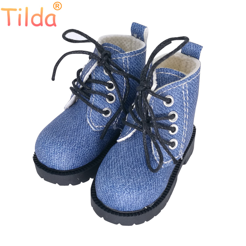 Tilda 7cm Length 1/4 BJD Doll Toy Shoes,Lovely Mini Real Life Leather Short Boots For Dolls High Quality Doll Accessories Toys