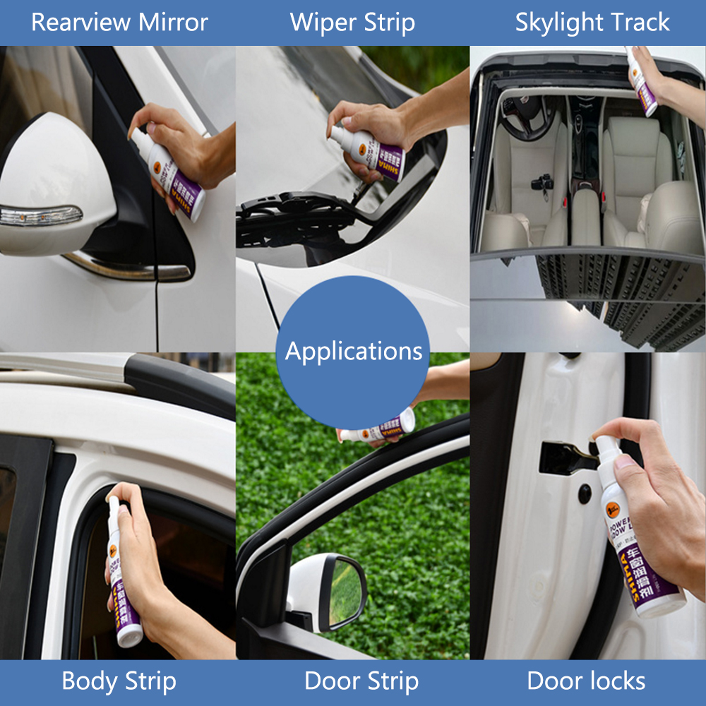 Image 5 - Auto Maintenance 100mL Car Door Noise Cancellation Window Lubricant Rubber Sealing Strip Belt Softening-in Paint Cleaner from Automobiles & Motorcycles