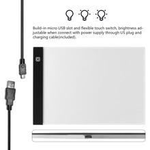 ¡Dimmable! Almohadilla de luz LED para tableta A4 ultradelgada para aplicar a los Kits de punto de cruz con bordado de diamantes de enchufe europeo