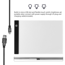 Dimmable ! Ultrathin A4 LED Light Tablet Pad Apply to EU Plug Diamond Embroidery Diamond Painting Cross Stitch Kits