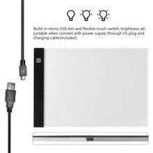 Kısılabilir! Ultra ince A4 led ışık Tablet Pad için geçerli AB Tak Elmas Nakış Elmas Boyama Çapraz dikiş kitleri
