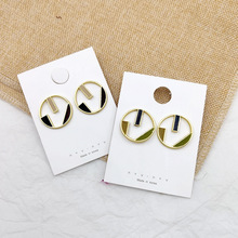 2019 Korea Earrings Drop Glaze Color Matching Geometric Alloy Hollow Round For Women Ear Ring Summer Boho Jewelry