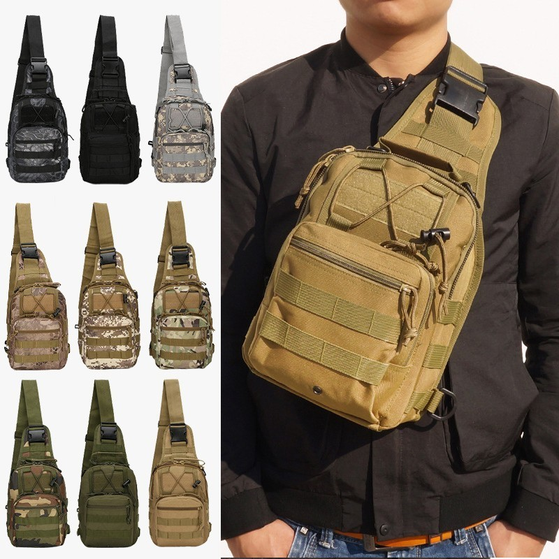 600D Military Tactical Shoulder Bag EDC Outdoor Travel Backpack Waterproof Hiking Camping Backpack Hunting Camouflage Army Bags