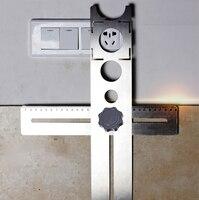 Мульти-функциональная плитка локатор дыр перфоратор Tapper универсальная настенная маркировочная машина Регулируемая Инструмент для перфор...