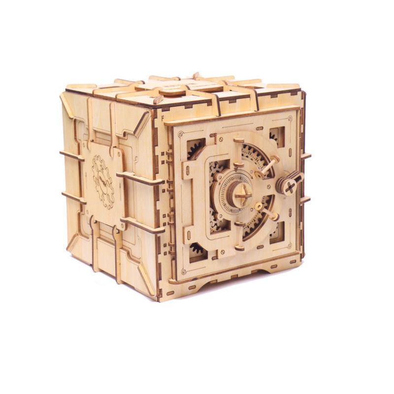 Creative Pandora boîte bloc de construction coffre au trésor en bois boîte de rangement cosmétique artisanat bijoux organisateur maison bureau décoration