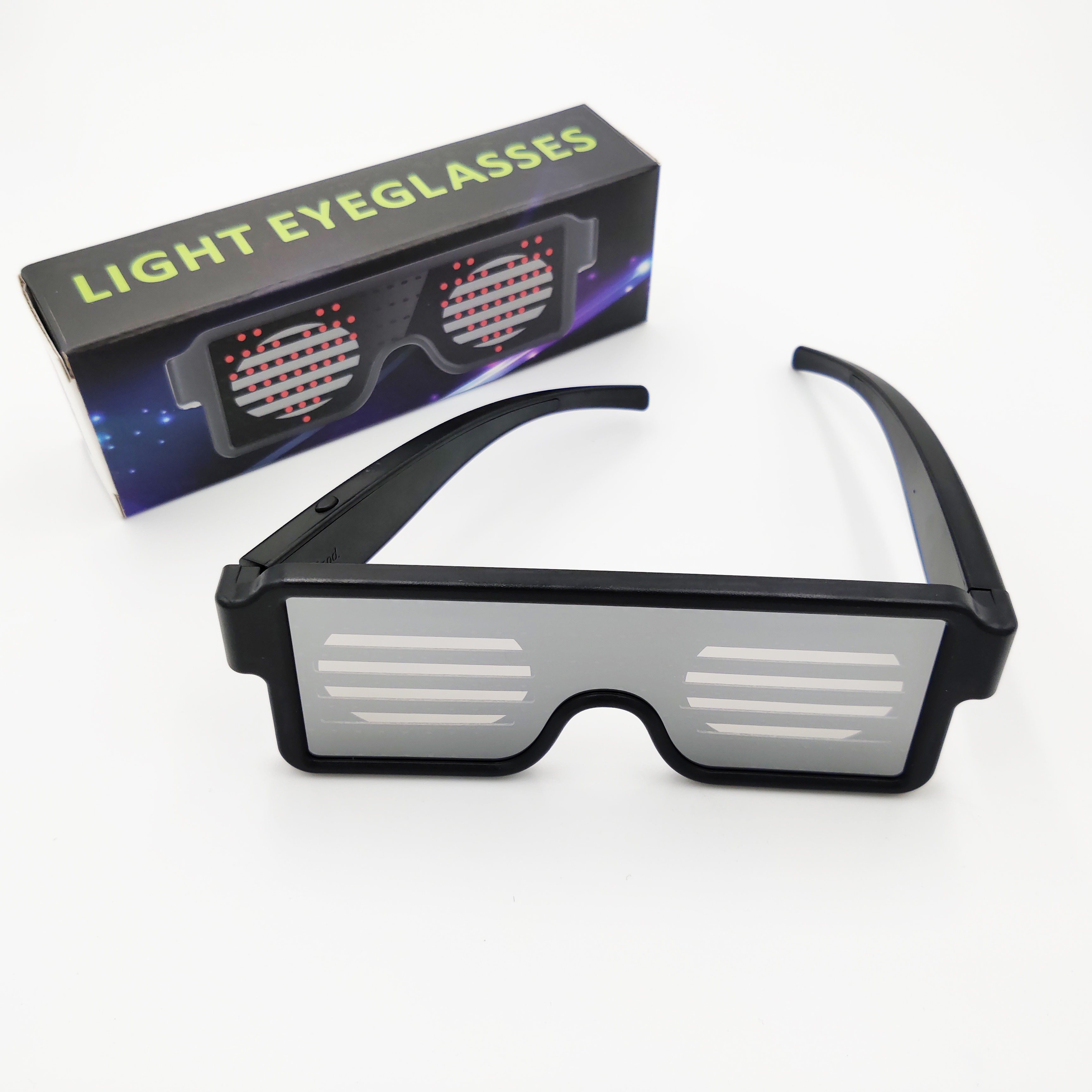 SALE !!! LED Flashing Light-Up Glow Party Glasses Guitar Design *Green*