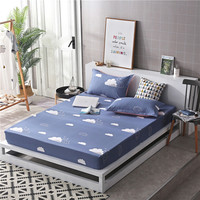 1pcs 100%Polyester Printed Solid Fitted Sheet Mattress Cover Four Corners With Elastic Band Bed Sheet67