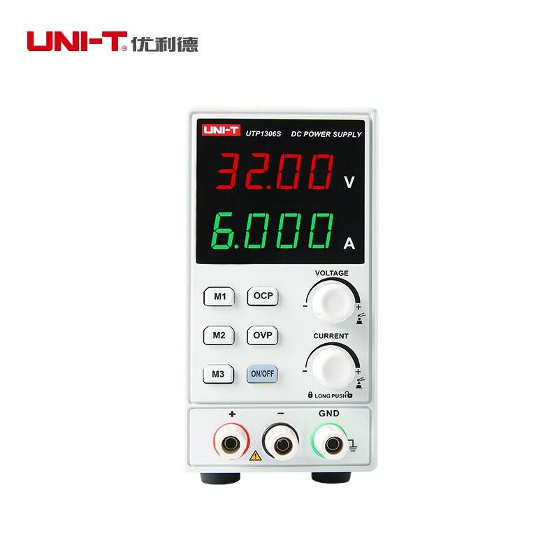 UNI T UTP1306S single-channel linear fonte de alimentação DC Tensão Estabilizada 32 V/6A 4bits Exibição Ao Longo corrente/Tensão/Temp Proteger