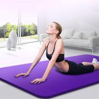 15MM NBR Non slip Yoga Mats For Fitness Brand Pilates Pads Sport Mats Outdoor Camping Pads Picnic Mats With Yoga Strap 173*61cm