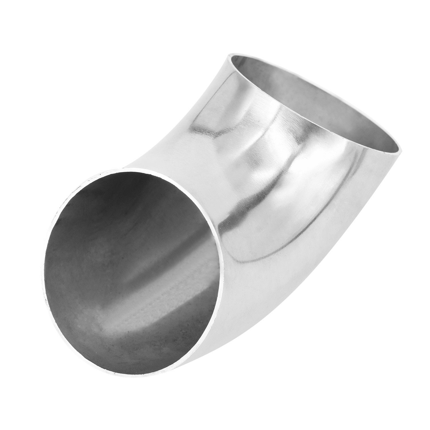 """2pcs 2.5/"""" 45 Degree 2/' Long Exhaust Mandrel Stainless Steel Bend Pipe Elbow Tube"""