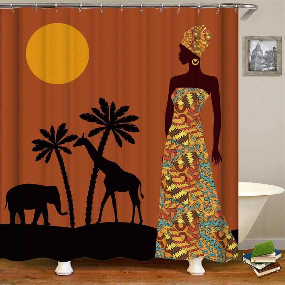 Африканская женщина душ шторы для ванной Аксессуары Ванная комната декор штора для ванной шторка для ванной