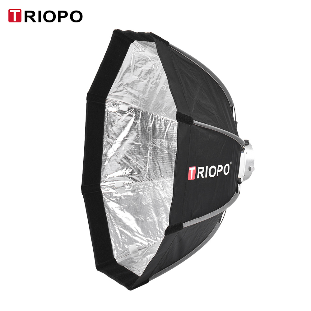TRIOPO 65cm Foldable 8 Pole Softbox w Soft Cloth Carrying Bag for Godox V860II TT600 TT685