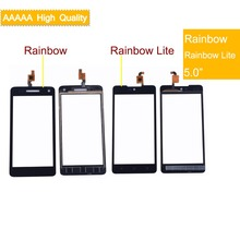 50Pcs/lot For Wiko Rainbow/Rainbow Lite/Rainbow Jam 3G/Rainbow 4G Touch Screen Panel Sensor Digitizer Glass Touchscreen
