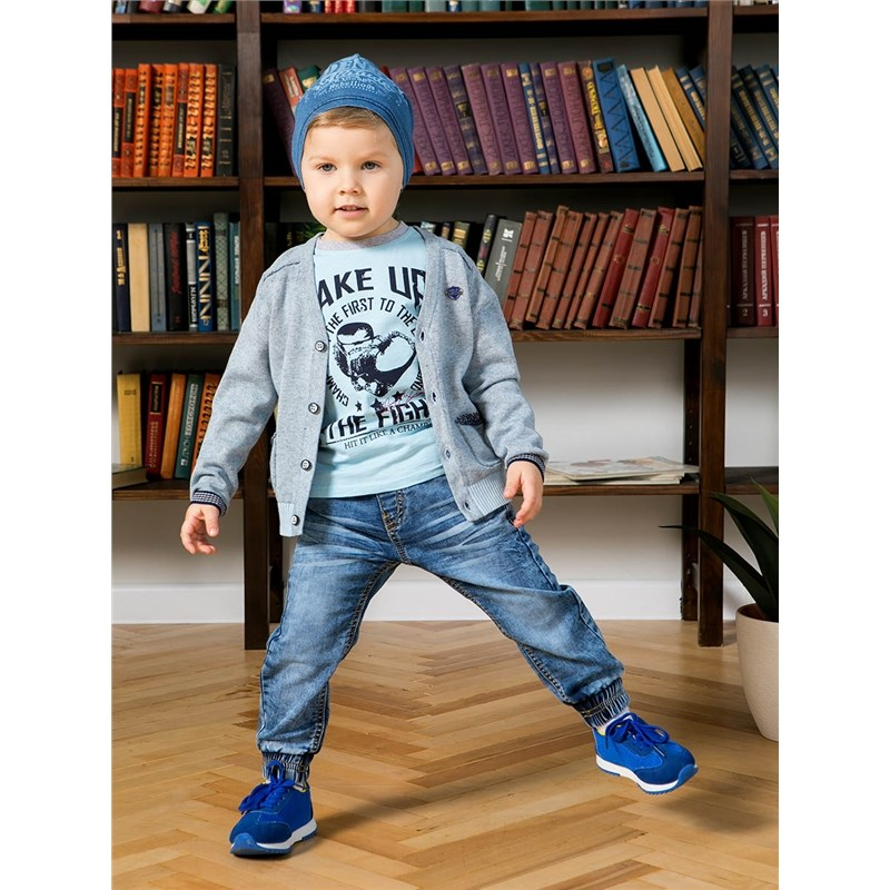 Jeans Sweet Berry Denim pants for boys children clothing bleached ripped pockets denim pants