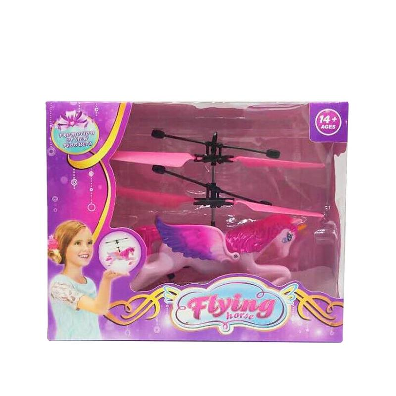 Flying Pink Unicorn Drone Self Hovering Helicopter Aircraft Toy
