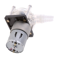 1 Pcs 24V DC Peristaltic Pump Metering Pump Corrosion Protection Vacuum Pump Suction Pump Silver