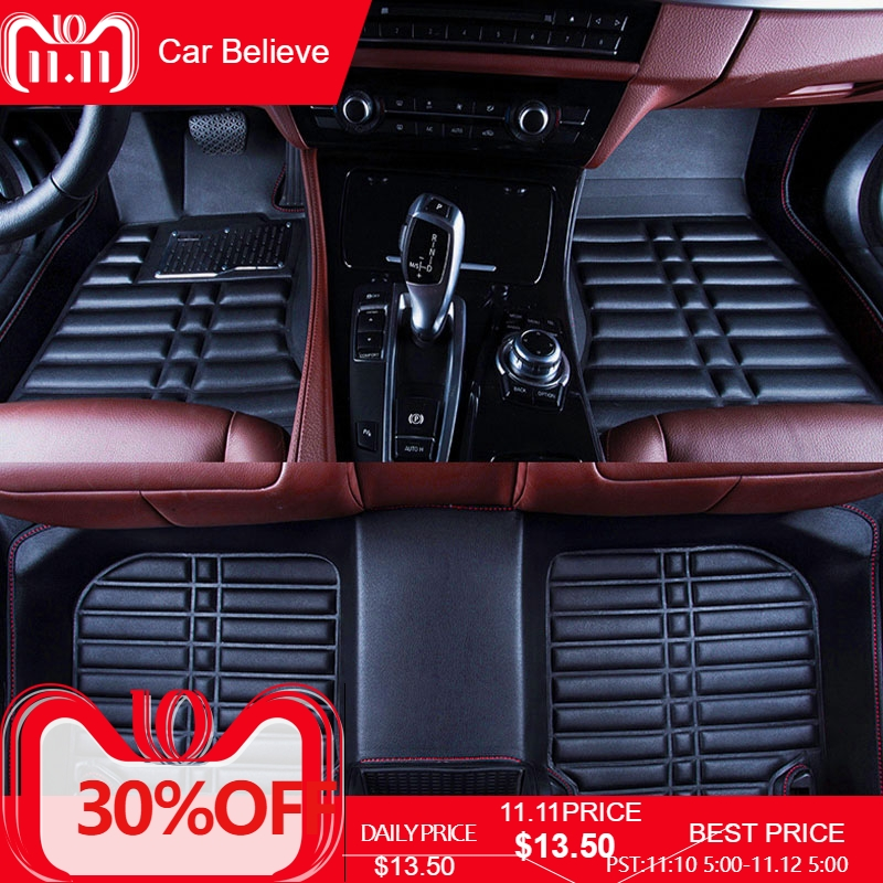 все цены на Car Believe Auto car floor Foot mat For chrysler 300c voyager waterproof accessories carpet