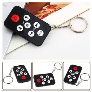 Image 1 - Kebidu מיני אוניברסלי שלט רחוק אינפרא אדום IR טלוויזיה סט 7 מפתחות טלוויזיה 433MHz RF מרחוק בקר Keychain מפתח טבעת בקלות