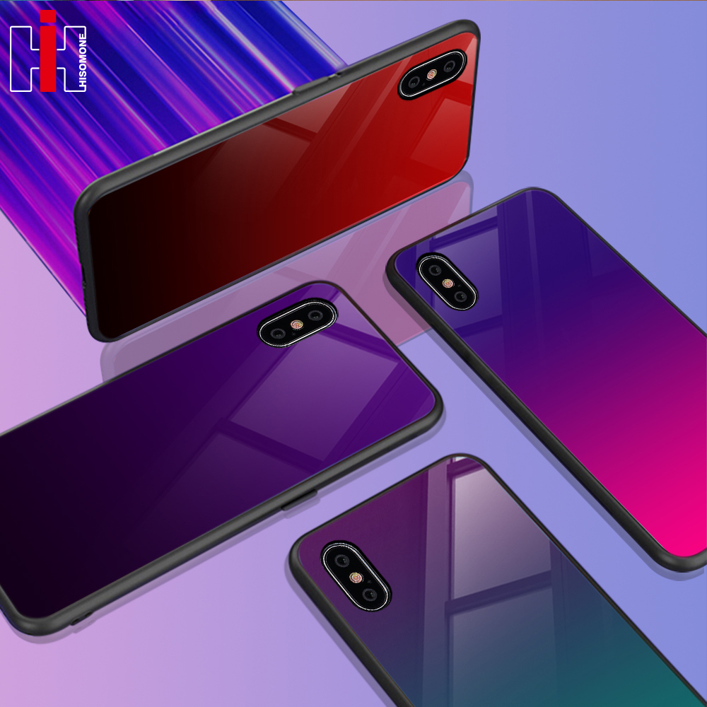 iphone xr gradient glass case