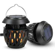 LED Solar Powered Flame Light Waterproof Tent Lamp For Tent Camping Emergency Outdoor