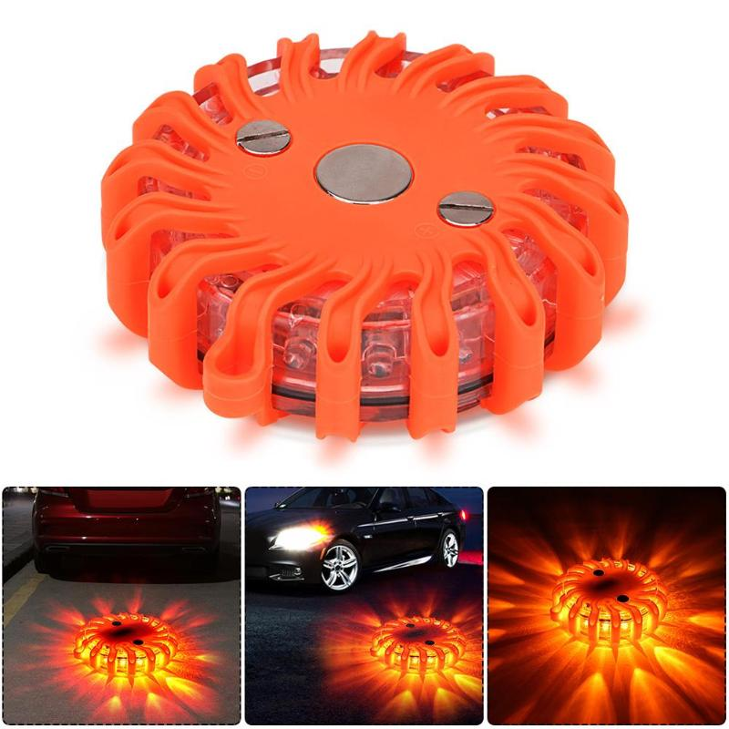 LED Flashing Warning Light Round Beacon Emergency Strobe Flashing Warning 8/15/16 Magnetic Flashlight Outdoor Camping Lights