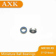2019 New Mr105rs Bearing Abec-3 (10pcs) 5*10*4 Mm Miniature Mr105-2rs Ball Bearings Rs Mr105 2rs With Blue Sealed L-1050ddu