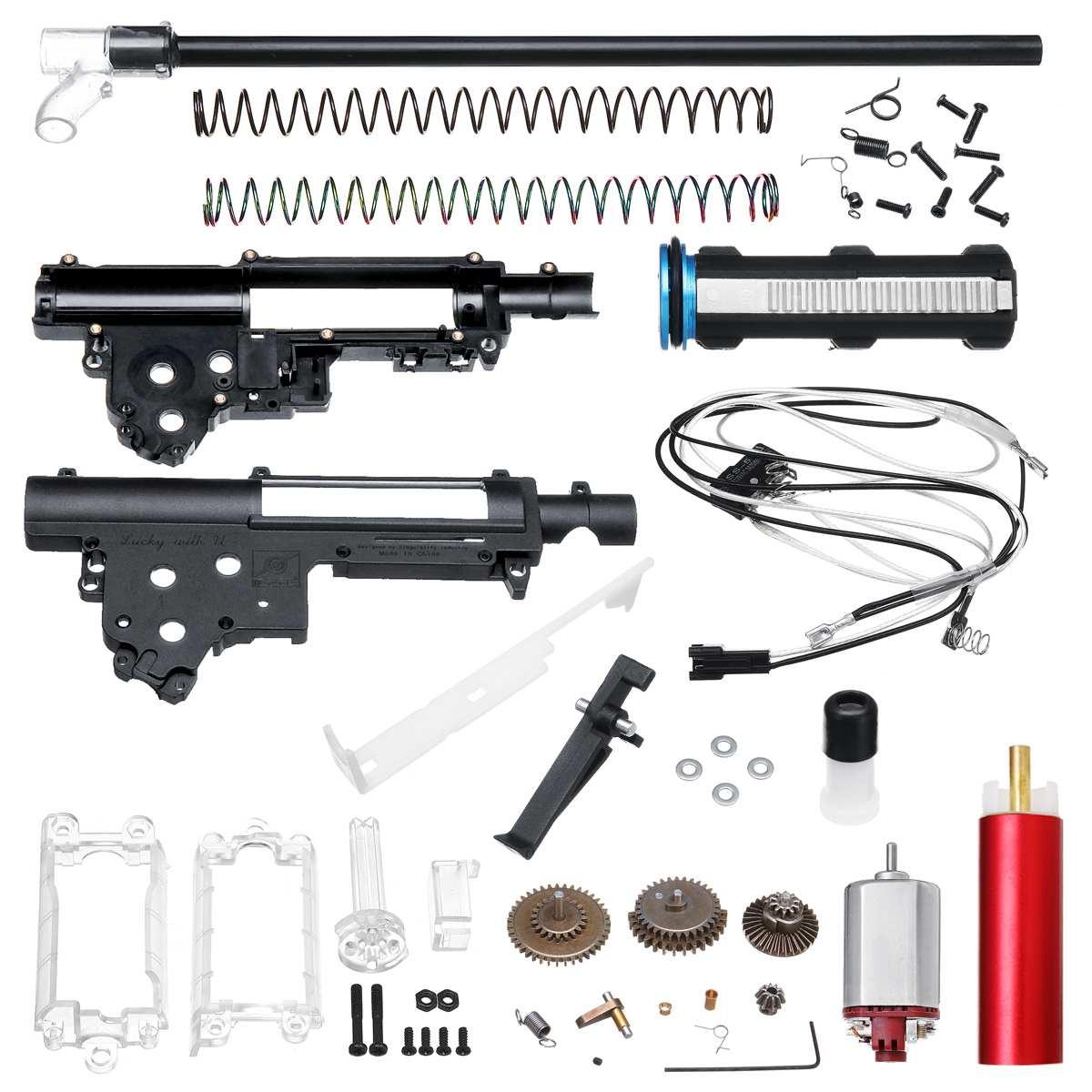 Mise à niveau des Kits de boîte de vitesses en Nylon pour JinMing M4A1 Gen 8 cicatrice V2 Gel sablage Gu n accessoires de remplacement avec moteur 460