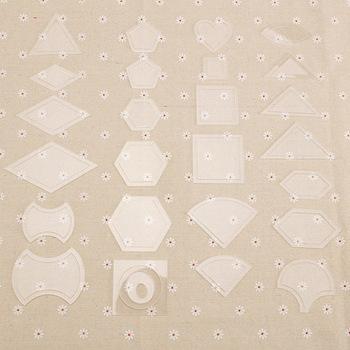 54 sztuk Handmade Craft do szycia patchworku Quilter zestaw przezroczyste szablony wielokrotnego użytku z tworzywa sztucznego narzędzie do majsterkowania akcesoria do szycia tanie i dobre opinie Other CN (pochodzenie) Zestawy narzędzi