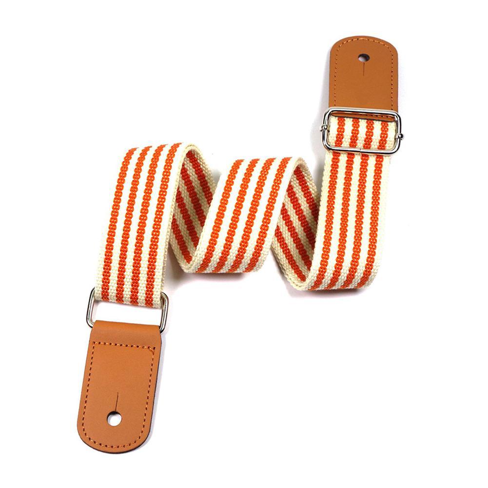 Adjustable Ukulele Strap Orange Stripes Hawaii Guitar Shoulder Strap Belt For Concert Soprano Tenor Ukulele Guitarra Accessories